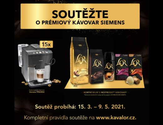 Káva L´OR soutěž kávovar