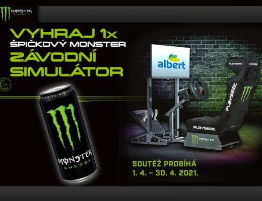 soutěž Albert racing simulator Monster Energy