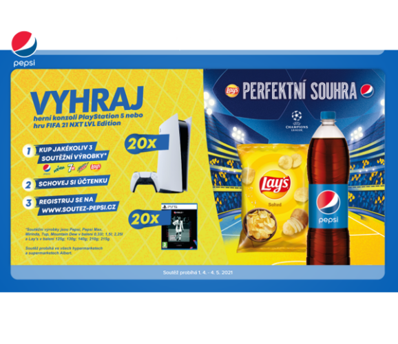 soutěž Pepsi Mountain Dew Lay´s Mirind 7up herní konzole hry