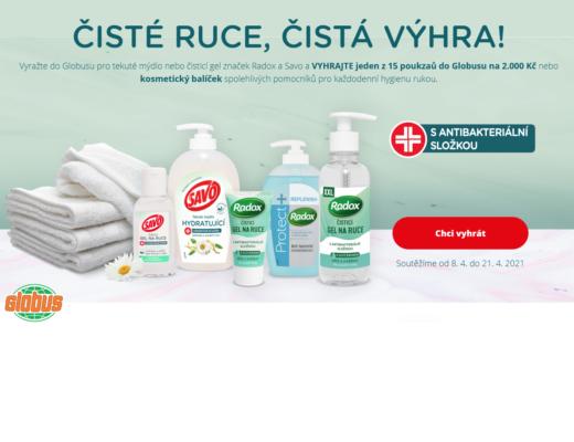 Unilever Radox Savo soutěž Globus kosmetické balíčky poukázky